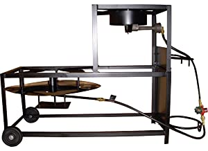 King Kooker 94/90TKD Portable Dual-Burner Propane 30-Inch Patio Cart