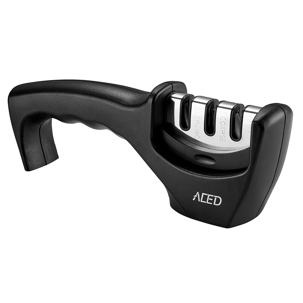 Knife Sharpener, ACED Kitchen Knife Sharpening Tool Manual Whetstones Helps Repair, Restore and Polish Blades