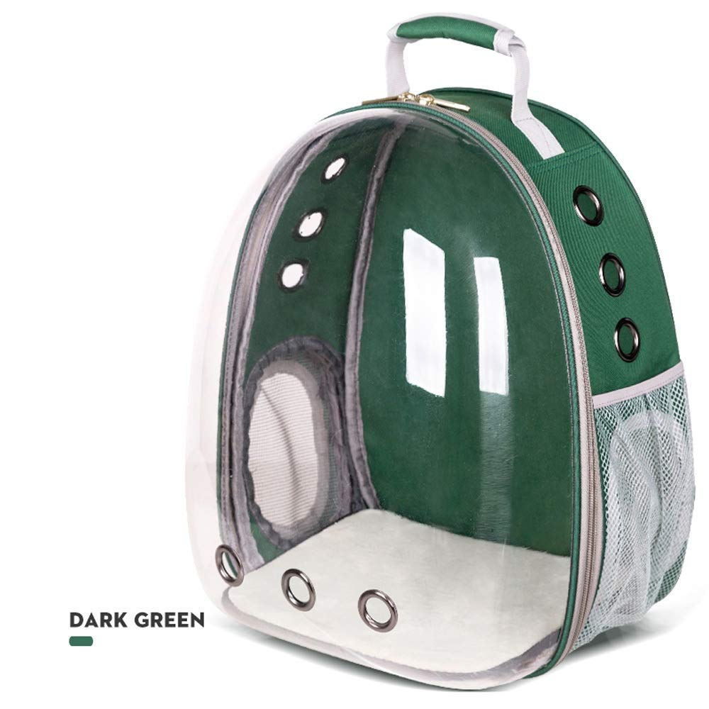 Green Dog Cats Transparent Space Capsule Breathable Shoulder Bag Pet Outside Travel Portable Carry Backpack Dogs Cats Carrying Cage (color   Green)