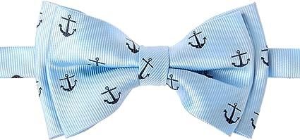 Retreez Boys Suspender Bow Tie Set Classic Anchor Woven Pre-Tied Bow Tie