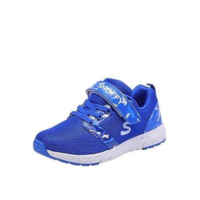Qianliuk Kids Boys Casual Schuhe Atmungsaktive Velcro Trainerschule Kindermode Sneakers Pz81eibuUT