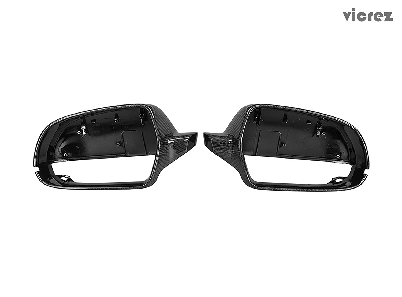 Vicrez Carbon Fiber Mirror Cover vz100972 for Audi A4 B9 2013-2015// A5 2010-2015
