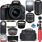 Nikon D5600 24.2MP DX-Format DSLR Camera with AF-P 18-55mm VR & 70-300mm ED Lens Kit Bundle with Camera Lens, 32GB Memory Car
