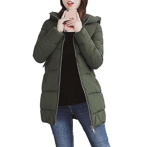 Zhhaijq Caliente para el invierno Autumn Winter Fashion Ladies Korean Style Cotton Dress Pocket Long...