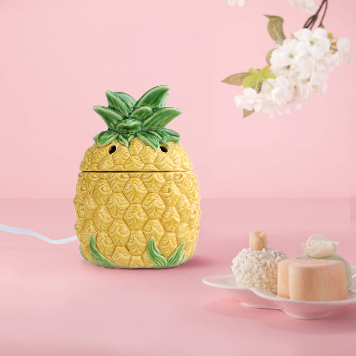 STAR MOON Wax Melt Warmer Electric, Candle Warmer for Wax Melt, Home Fragrance Diffuser, Home Décor, No Flame, with Ceramic Warming Plate (Pineapple) by STAR MOON (Image #3)