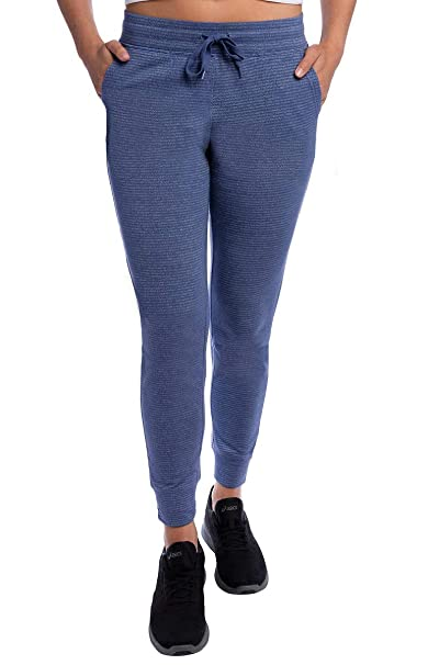 Champion Ladies French Terry Jogger (Light Blue Stripe, Large ...