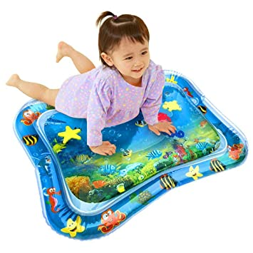 Volwco Tummy Time Inflatable Water Mat For Babies ...
