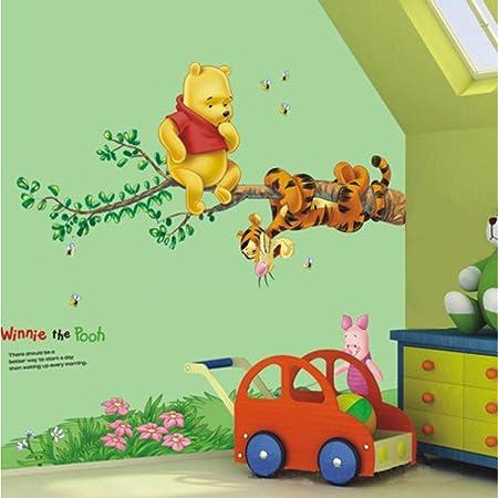 Kibi Disney Winnie The Pooh Wall Stickers Disney Winnie The Pooh /& Friends Mural Bear Tiger Animal Wall Sticker Childrens Room Kindergarten Winnie The Pooh 3D Wall Stickers