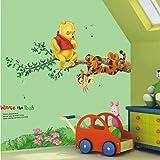 Restly(TM) Disney Winnie The Pooh Cartoon Children's Room Foot Line Wall Stickers Decor