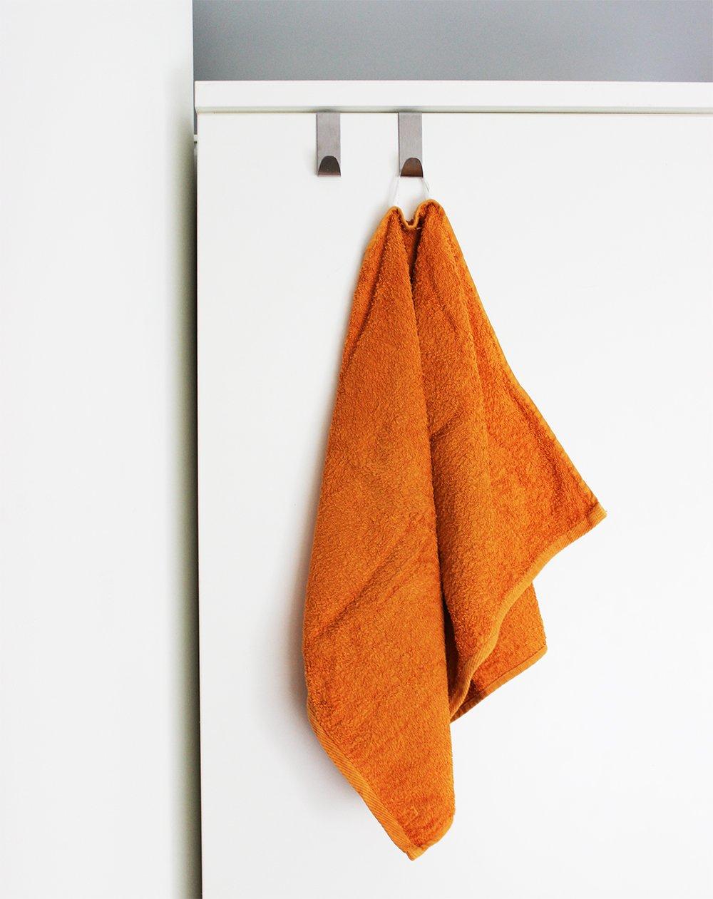 7,5 cm Kleiderhaken ohne Bohren com-four/® 8 T/ürhaken aus Edelstahl