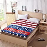 DHWJ French velvet mattress,Double mat,Student mattress,Mattress-A 150x200cm(59x79inch)