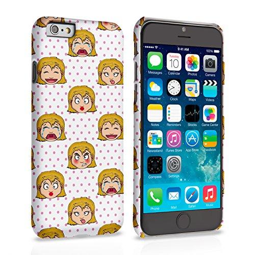 Caseflex iPhone 6 Plus / 6S Plus Hülle Rosa Feminin Karikatur Gesichter Hart Schutzhülle (Kompatibel Mit iPhone 6 Plus / 6S Plus - 5.5 Zoll)