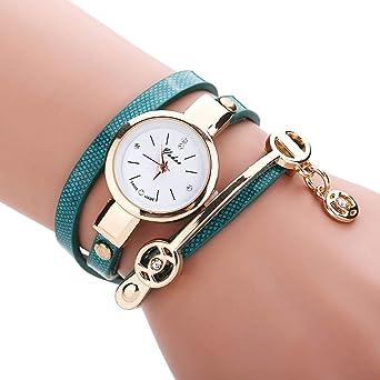 KaloryWee Montre Femme Bracelet Montre Pas Cher Bracelet Cuir Fashion De  Mode Montre Analogique Luxe Tresse b711209c776