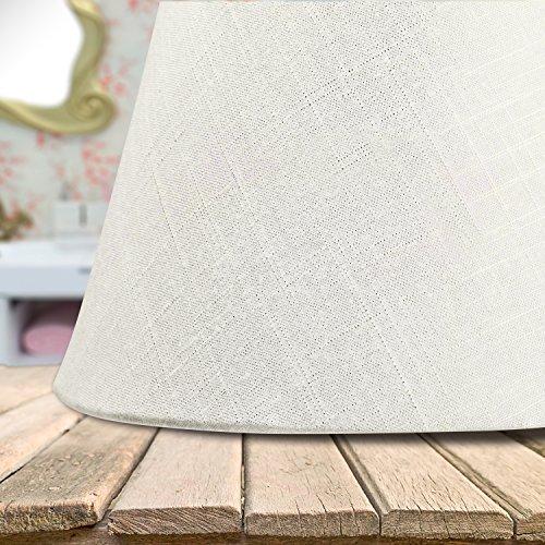 Lamp Shade IMISI Linen Fabric White Lamp Shade Small 5'' Top Diameter x 9'' Bottom Diameter x 7'' Tall (White) by IMISI (Image #3)