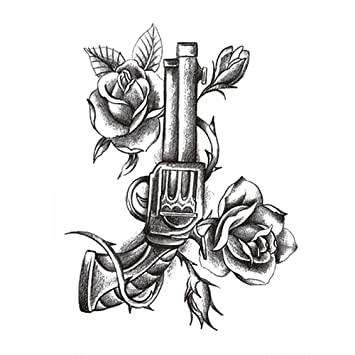 Brazo de flor pegatinas de tatuaje impermeables flores en blanco y ...