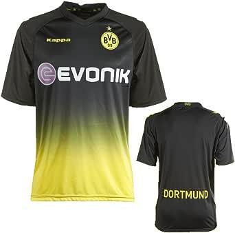 Kappa BVB - Camiseta de fútbol para Hombre, tamaño XXL, Color Negro: Amazon.es: Ropa y accesorios