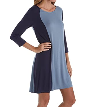 b402f7ffdfcca Donna Karan Sleepwear Curve Appeal Sleepshirt (D236928) M/Ink at Amazon Women's  Clothing store: