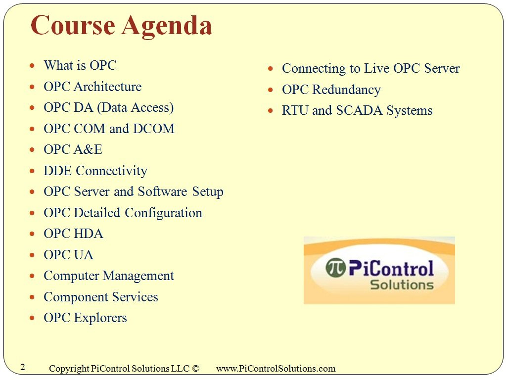 OPC 500: Industrial OPC Software for Communications & Control Training  Course