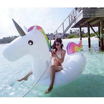 Siyushop Piscina Inflable, Flotador Gigante de la Piscina del Unicornio, Unicornio Piscina Inflable del