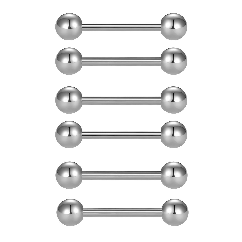 16mm Small Steel Star Barbell Tongue Bar