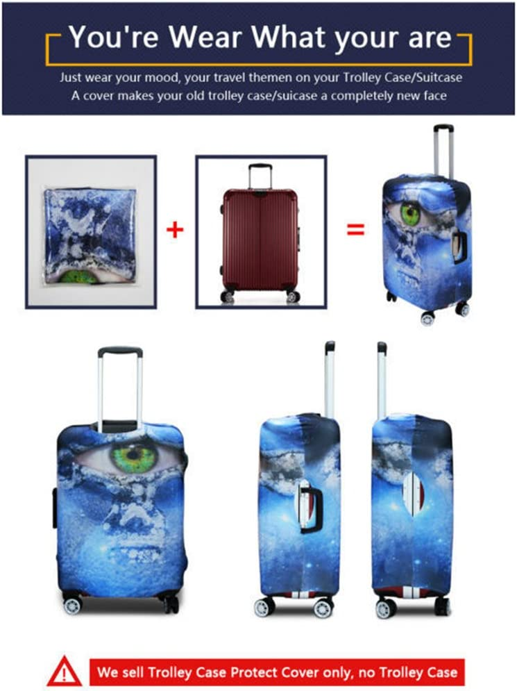 Suitcase Cover Luggage Protector Elastic Washable Anti-Scratch,A-L Dustproof Protective Suitcase Cover Protector Spandex Polyester Stylish suitcase cover Creative Luggage Covers Protective