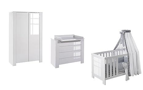 Schardt Kinderzimmer Cube Hochglanz Weiß bestehend aus Kombi ...