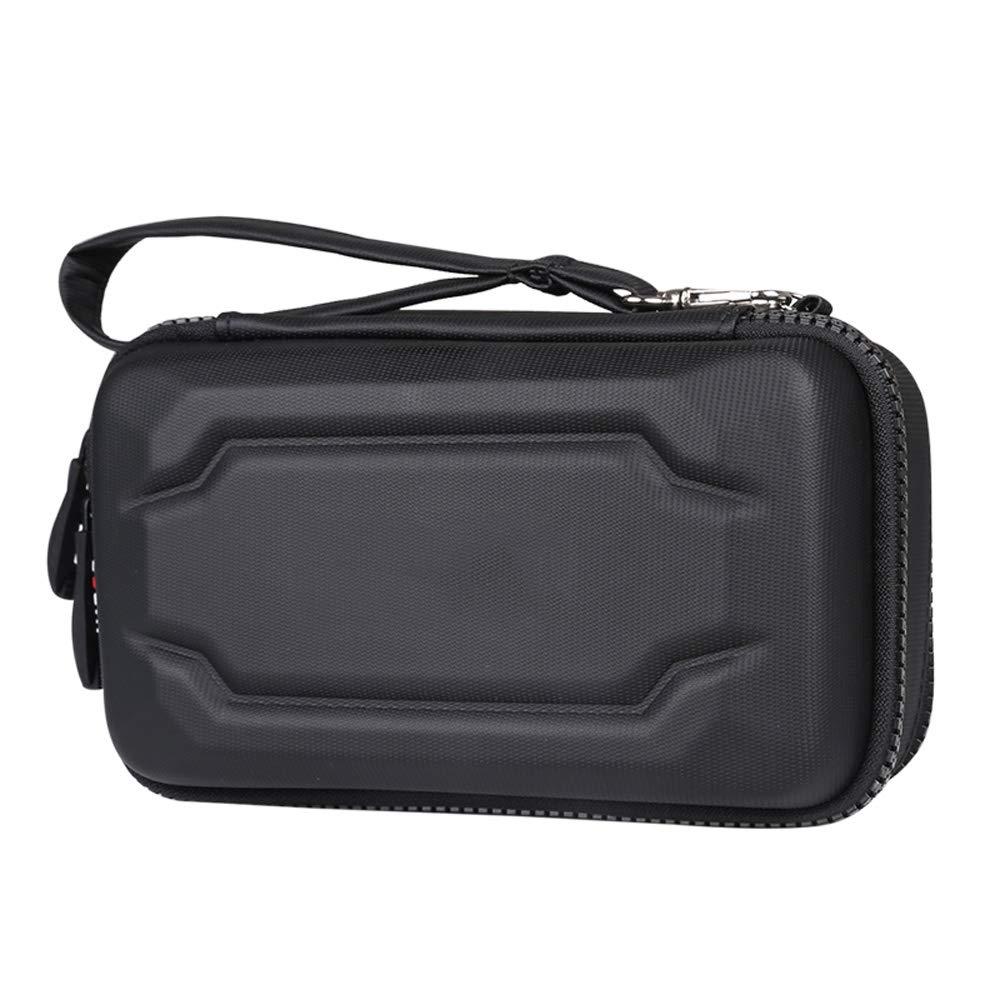 Custodia portatile da viaggio per dispositivo di avvolgicavo piccolo per accessori elettronici da viaggio - 3 strati (Colore : Nero) SYAODU bags
