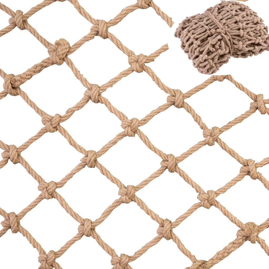 Climbing Cargo Net-Indoor Climbing Net 3.3/×3.3ft Size : 1/×1m Cargo Net for Kids-Ninja Net Climbing,Climbing Net Indoor//Outdoor for Swingset Pets and Children Safety Net Fence