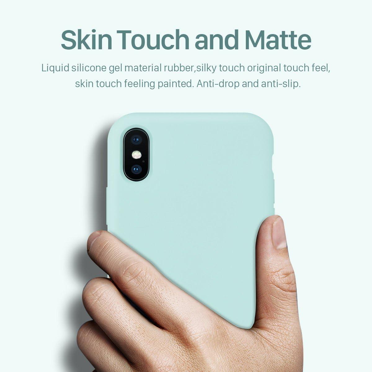 Funda Silicona Case para el iPhone X,Goma de Gel Mate Suave ...