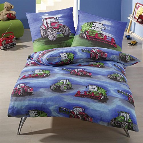 Anaterra 10000912 2-Piece Bed Linen with Tractor Motif 135 x 200 cm Kinderbutt