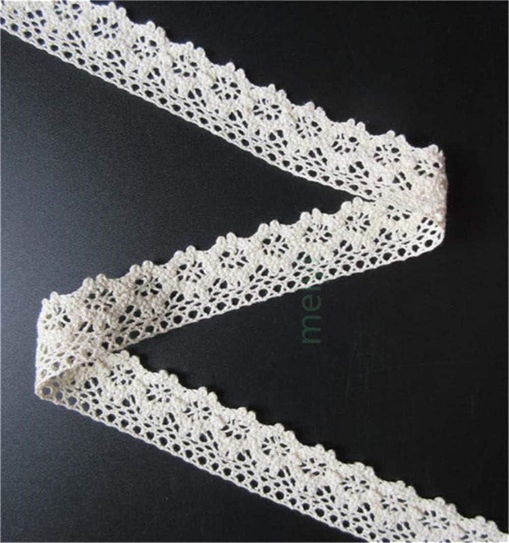 3 metre Black Cotton Vintage Style Antique Trim Floral Lace Ribbon Fabric Décor