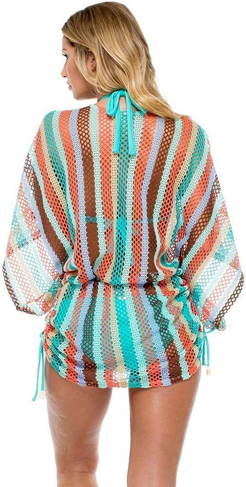 Luli Fama Gloria Cubana Cabana V-Neck Dress