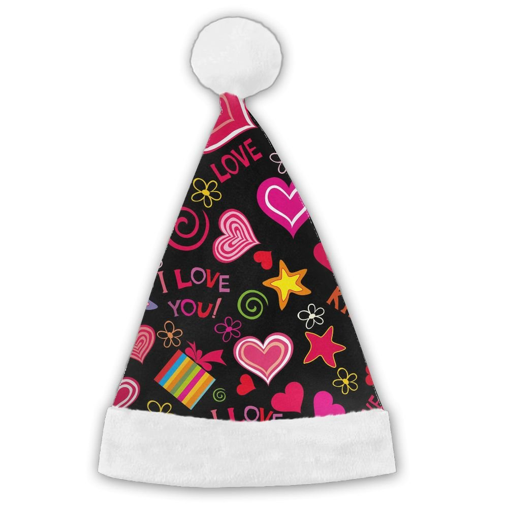 Gift Love In Love Merry Christmas Santa Christmas Santa Hat Holiday Theme Hats Graphic Printed For Adults And Children by ZHIYANG (Image #1)