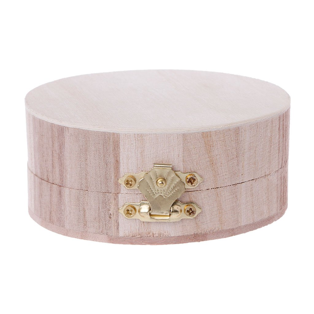 SimpleLife Caja de Almacenamiento de joyerí a de artesaní a de Madera Caja de Base de Barro de Madera Decoració n para niñ os Juguetes de Bricolaje