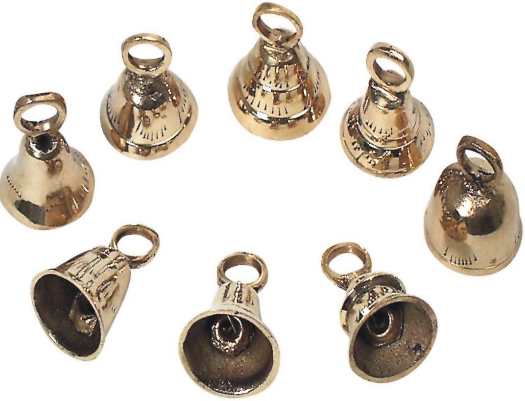 Kuhglocke mit braunem Riemen 1 St/ück Ziegenglocke in antikgold aus Metall ca 9 cm x 6 cm x 25 cm
