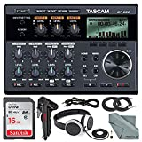 Tascam DP-006 6-track Digital Pocketstudio and Deluxe Accessory Bundle with Tascam Stereo Headphones, Table Top Tripod, SD Card, FiberTique Cleaning Cloth, and More