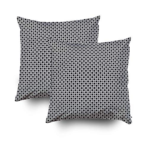 My Pillow Covers,Seamless surface pattern design with Moroccan stars and crosses tiles ornament Oriental traditional ornamentation with repeated geometric shapes Ancient mosaic wallpaper Grid motif Di