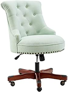 Linon Home Décor Leslie Mint Green Office Chair