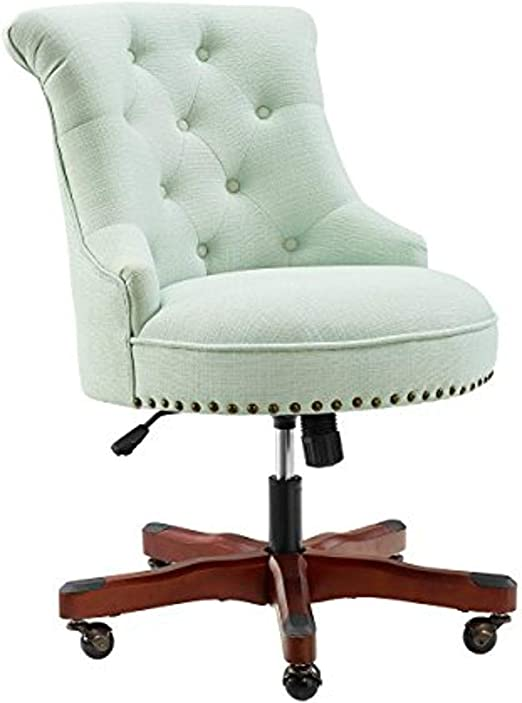 Amazon Com Linon Home Decor Leslie Mint Green Office Chair Furniture Decor
