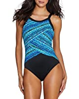 Miraclesuit Swimwear Color Block Night Light One Piece