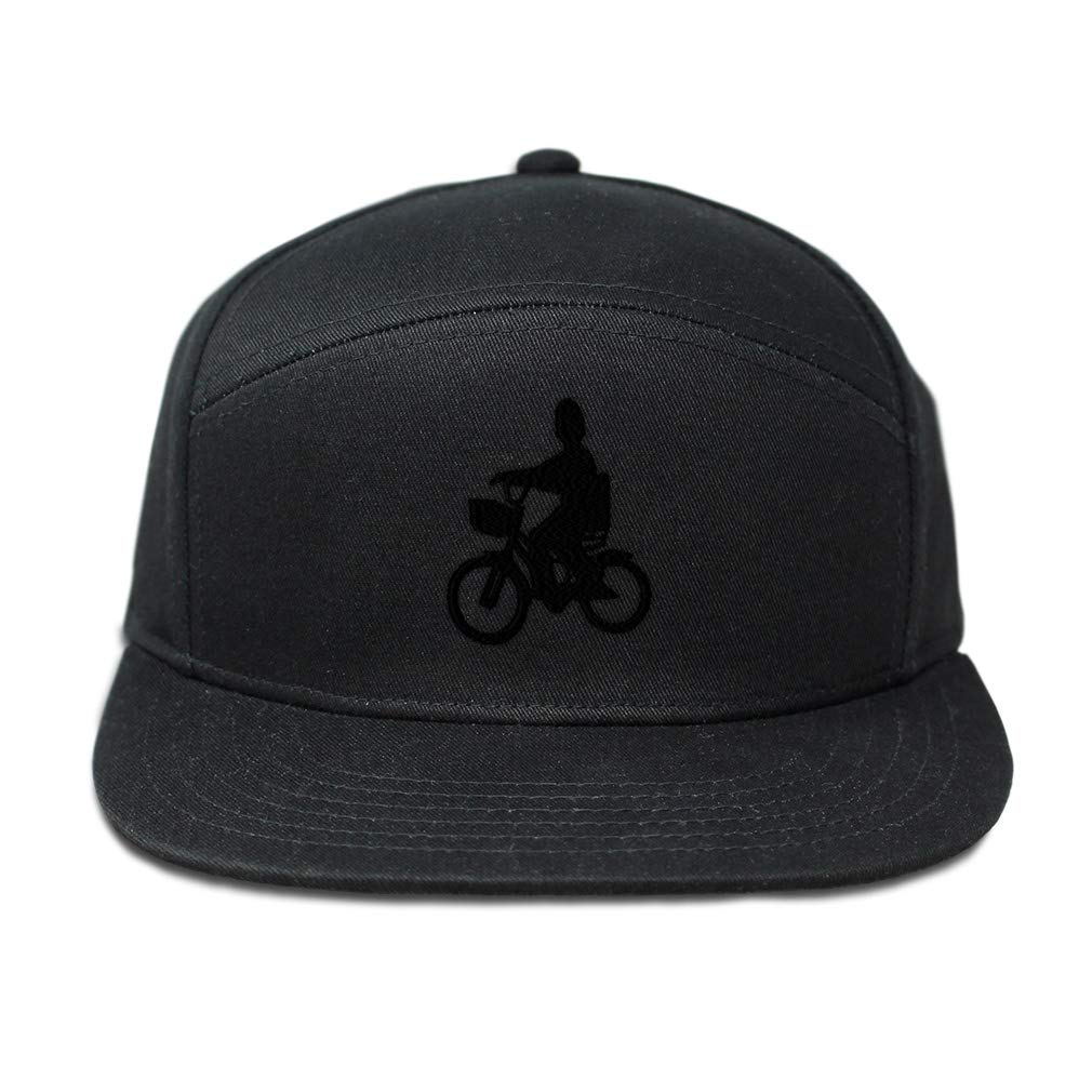 Custom Snapback Hats for Men /& Women Biking Child Silhouette Black Embroidery