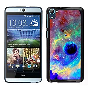 MOBMART Carcasa Funda Case Cover Armor Shell PARA HTC Desire D826 - Fiery Skies And The Blue Moon