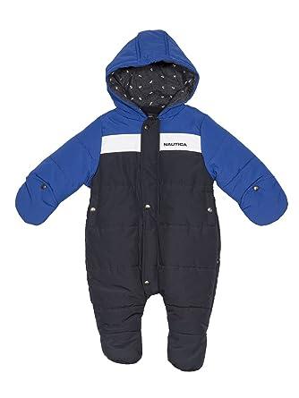 bc799221a Amazon.com: Nautica Baby Boys' Colorblock Snowsuit, Sport Navy 3 ...