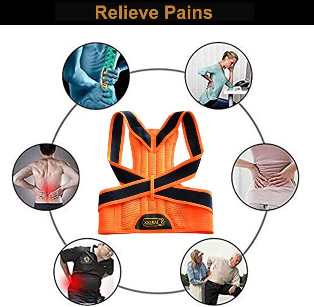 Verstellbare R/ückenst/ütze R/ückenbandage f/ür Damen und Herren Geradehalter zur Haltungskorrektur f/ür R/ückenschmerzen Linderung ZSZBACE Haltungstrainer