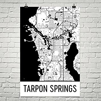 Map Tarpon Springs Florida.Amazon Com Tarpon Springs Map Tarpon Springs Art Tarpon Springs