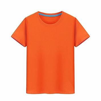 XIAOGEGE La Camiseta Naranja Camisetas Personalizadas, Ropa de Media Manga 100% Algodón Camiseta Igual Impresión Fotográfica Ropa Creativa,XL: Amazon.es: ...