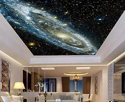 3d Mural Wallpaper Dreamy Galaxy Star Sky Ceiling Custom