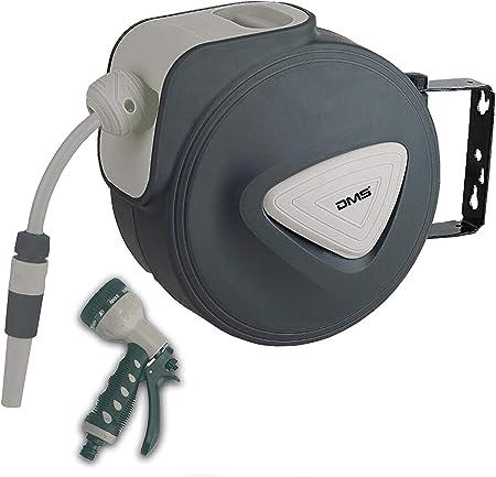 Schlauchaufroller Wasserschlauchaufroller Garten Schlauchtrommel 30 m Grau DMS®