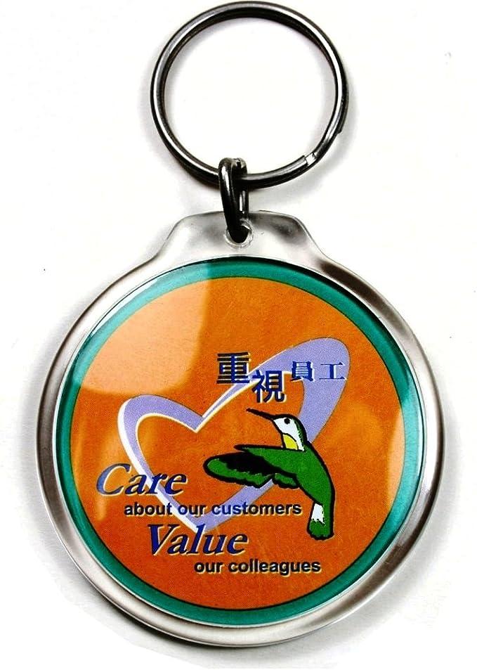 Pc3721 Leere Durchsichtige Runde Foto Schlüsselanhänger Aus Acryl 45 Mm Durchmesser Modell 96506 5 Stücke Küche Haushalt