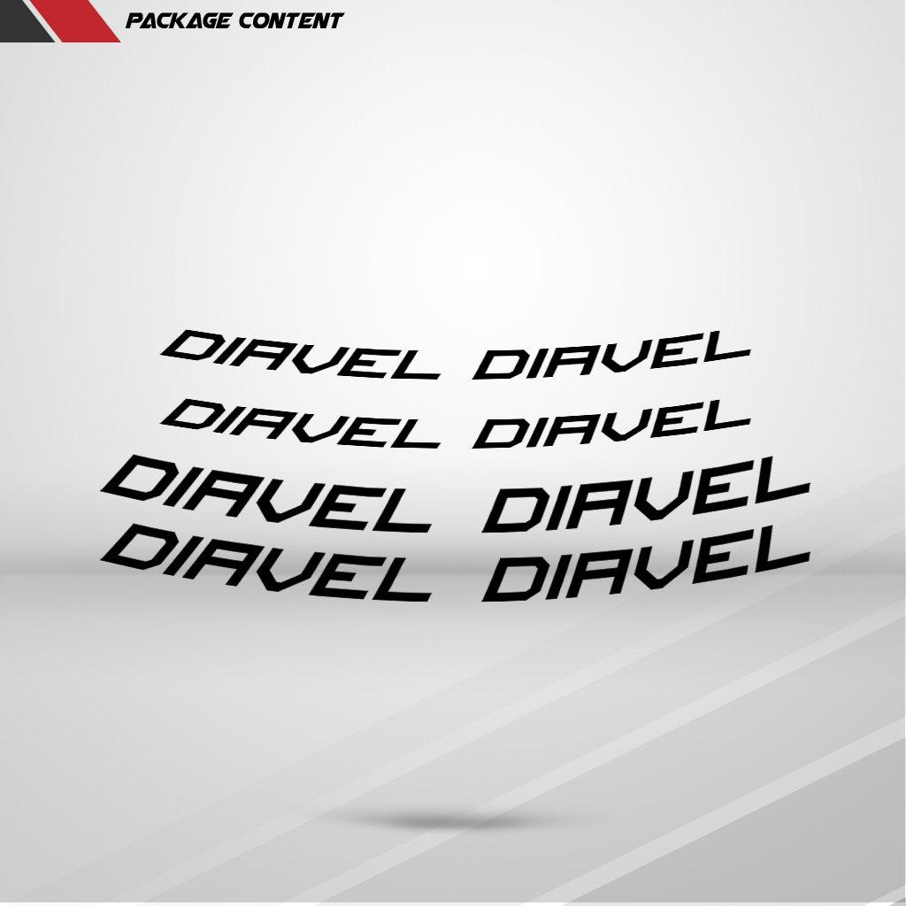 Rosso Lucido Ruote Moto Cerchione Inner Rim Tape Decalcomanie Adesivi per Ducati Diavel